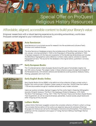 Religious History Resources