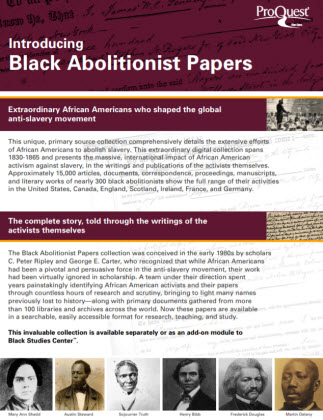 Black Abolitionist Papers