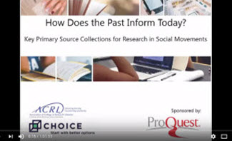 ACRL Webinar: How Does the Past Inform Today?