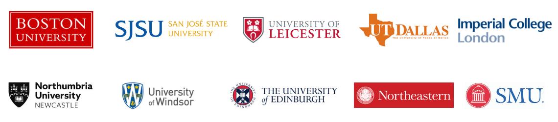 ProQuest Rialto Development Partner universities include...