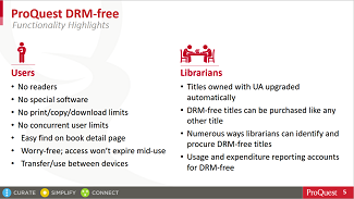 View the slide deck - Session 5: Unlimited access with DRM-free titles on Ebook Central