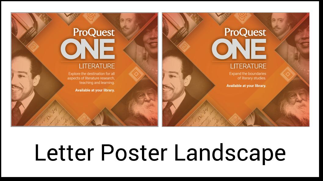 Poster Letter Landscape
