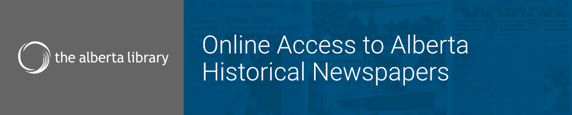 Online Access to Alberta Historical Newspapers