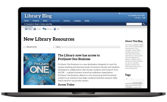 ProQuest One Business Blog content