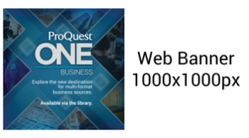 ProQuest One Business Banner 1000x1000
