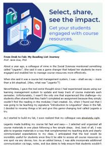 Faculty Blog Post Sample